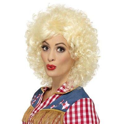 Women's Rodeo Doll Fancy Dress Wig Cow Girl Western Hen Night Fun Line (Dancing Dolls Kostüme)