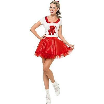 Women's Cheerleader Fancy Dress Costume Sandy Grease Rydell High Hen Theme Party](Grease Sandy Cheerleader Costume)
