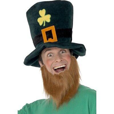 Men's Women's Irish Green St Patrick's Paddy's Day Hat Beard Set Fancy Dress Fun