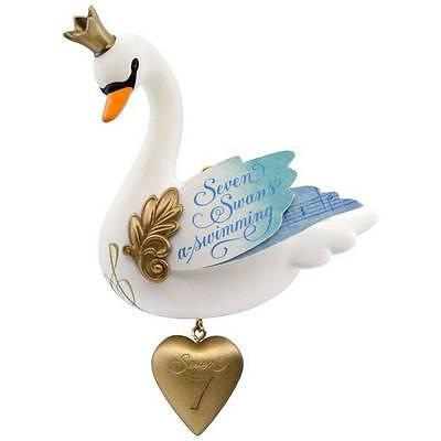 Hallmark 2017 Seven Swans a Swimming 12 days series Ornament 12 Days Seven Swans Ornament