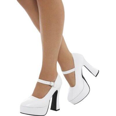 Damen 70er Jahre Plateau-Schuhe Erwachsene 60er Jahre Gogo-Stiefel Hippie Kostüm