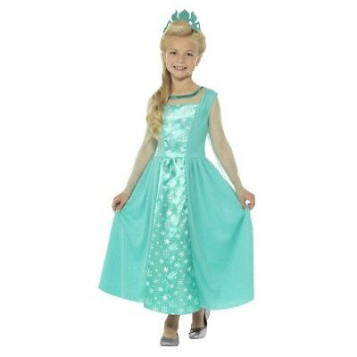 Girls Ice Princess Frozen Elsa Fancy Dress Costume World Book Movie Theme Disney