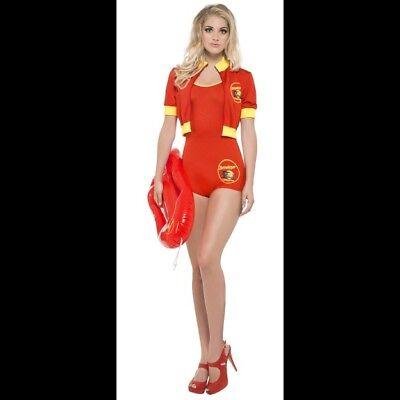 Women's 1980's Baywatch Lifeguard Fancy Dress Costume Hen Pamela Anderson Fun   (Pamela Anderson Kostüme)