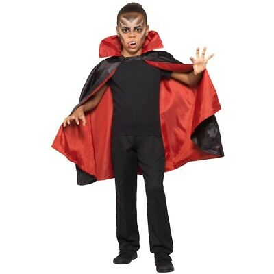 Doppelseitig Vampir Umhang Jungen Mädchen Halloween Kostüm - Mädchen Vampir Kostüm Zubehör