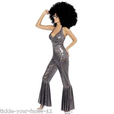 Women's 1970's Disco Diva Fancy Dress Costume Boogie - Boogie Nights Kostüme