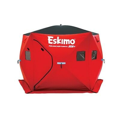- Eskimo Quickfish 5I 5 Person Portable Insulated Ice Fishing Tent House Shelter