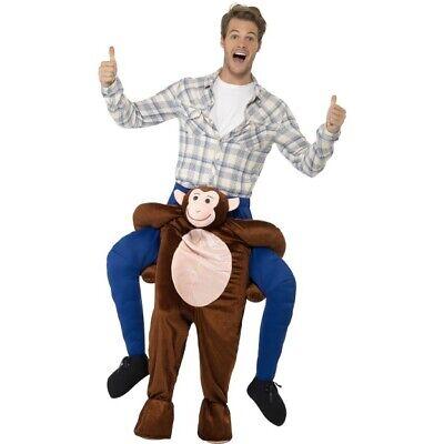 Cavalluccio Costume da Scimmia Finto Gambe Adulti Vestito Animale Donna Uomo
