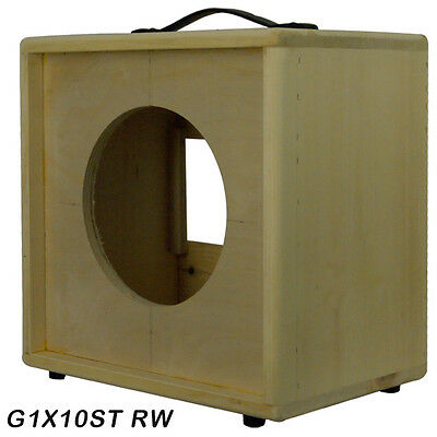 1x10 solid Pine, Raw wood Extension Guitar speaker Empty cabinet G1X10ST RW Empty Guitar Cabinet