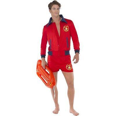 Men's Hunky Licensed Baywatch Lifeguard David Hasselhoff Fancy Dress Costume 80s