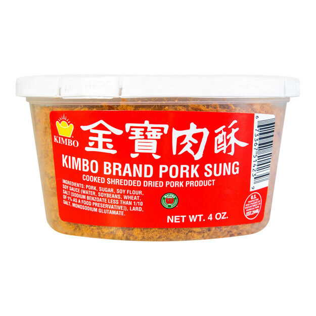 как выглядит KIMBO Brand Pork Sung Cooked Shredded Dried Pork Product 4 oz Pack of 12 фото