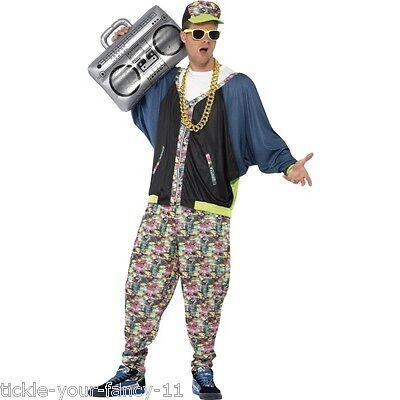 Men's 1980's Hip Hop Rapper Boy Fancy Dress Costume LA Cool J Ali G Stag Theme ](Boys Rapper Costume)