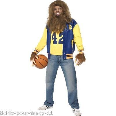 Men's 1980's Official Licensed Teen Wolf MJ Fox Fancy Dress Costume Stag Theme ](1980s Themed Halloween Costumes)