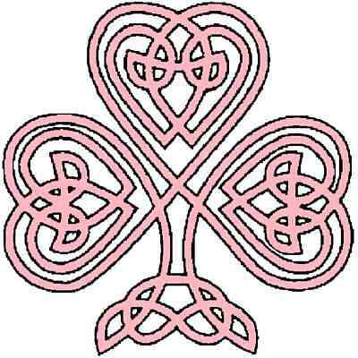 30 Custom Pink Celtic Shamrock Personalized Address Labels