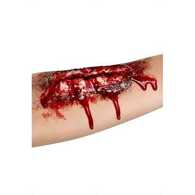 Adults Gore Arm Scar Halloween Fancy Dress Blood Zombie Flesh Gory Makeup & Glue - Halloween Make Up Arm
