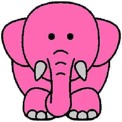 30 Custom Pink Elephant Personalized Address Labels
