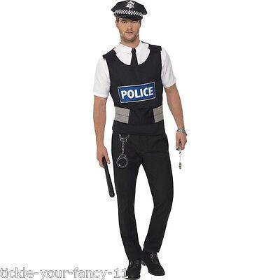 Men's Officer Policeman Police Uniform Kit Fancy Dress Costume Stag Party Cop