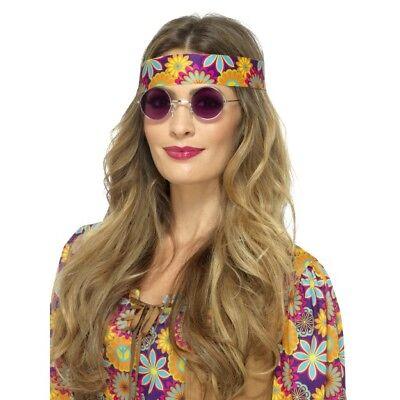 Hippie Brille 1960s Jahre Hippy Retro 60s Jahre Kostüm Zubehör Herren Damen