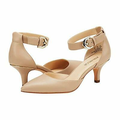 Women's Kitten Heel Pumps Shoes Closed Pointed Toe Ankle Strap Dress Stiletto Pump Medium Heel Ankle Strap