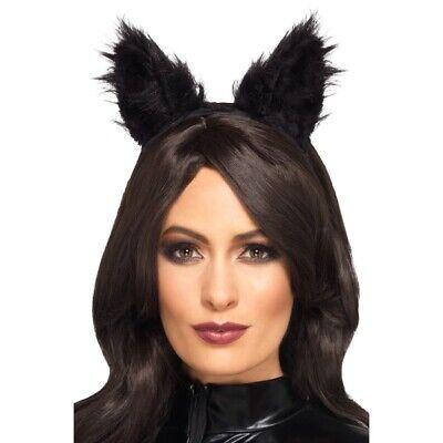 Hochflor Pelz Cat Ears Damen Kostüm Zubehör Deluxe (Cat Ohren Halloween Kostüme)