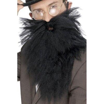 Schwarze Lange Bart und Tash Altes England Gentleman Kostüm - Alte Gentleman Kostüm