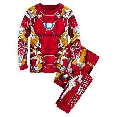 NEW Disney Store Marvel Avengers Iron Man Costume PJ Pal Pajamas size 5 NWT
