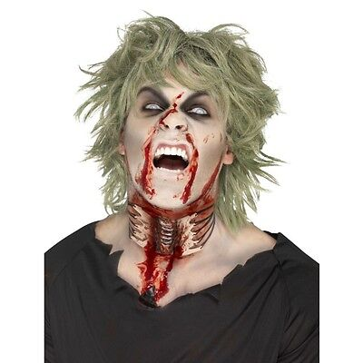 Adults Unisex Halloween Zombie Exposed Throat Wound Make Up Fancy Dress (Halloween Exposed)