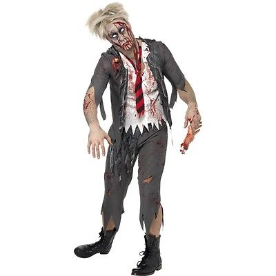 NEW Zombie School Boy - Living Dead High School Halloween Fancy Dress Costume (Dead School Boy Costume)
