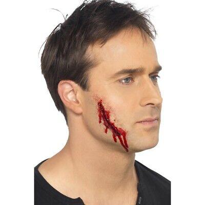 Men's Fake Fancy Dress Make Up Skin Flesh Scar Horror Cut Zombie Stag Halloween](Men Pirate Halloween Makeup)