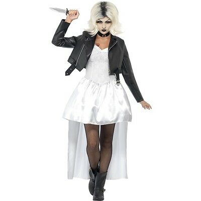 Female Chucky Halloween Costume (Womens Female Bride of Chucky Halloween Scary Horror Party Fancy Dress)