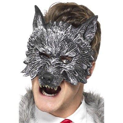 Grau Großer Böser Wolf Maske Erwachsene Deluxe Halloween Kostüm Zubehör (Deluxe Wolf Maske)