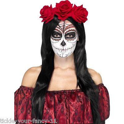 Women's Day Of The Dead Head Band Halloween Fancy Dress Voodoo Horror Hen Night  (Halloween Horror Nights Voodoo)