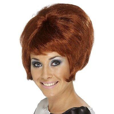 Women's 60's Auburn Beehive Wig Hen Short Mod Pin Up Model Glamour Rock Hippy (60's Pin Up Kostüm)