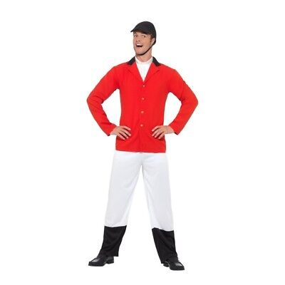 Men's Huntsman Fancy Dress Costume Jacket Trousers Bootcovers Hat Cravat Stag Do - Hunter Boot Covers