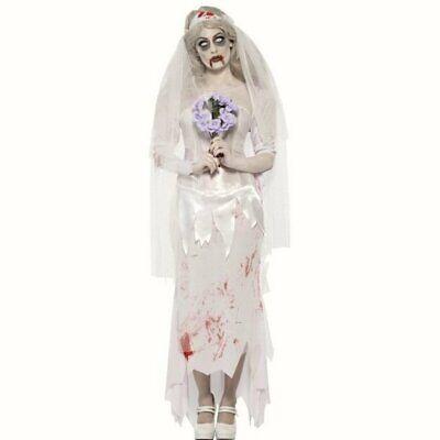 Zombie Bride Womens Halloween fancy dress costume Till Death Do Us Part](Woman Death Halloween Costume)