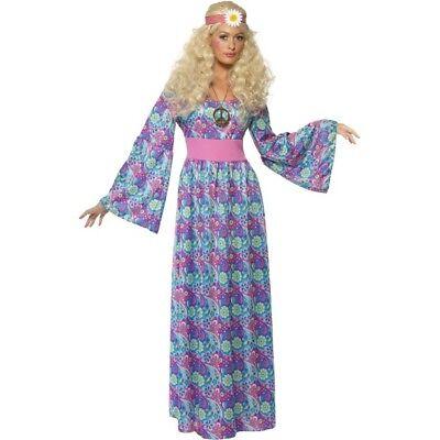 Smi - Karneval Damen Kostüm Hippie Kleid Flower Power 60er Jahre