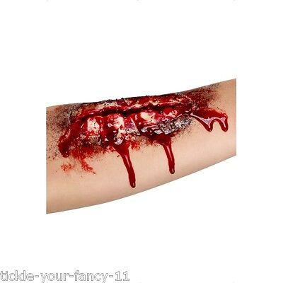 Unisex Arm Scar Halloween Fancy Dress Blood Zombie Flesh Gory Makeup & Glue  - Halloween Make Up Arm