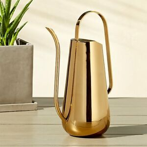 CB2 Crate and Barrel Brass Watering Can - NEW