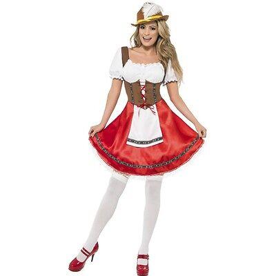 Womens Beer Wench Costume German Female Beer Festival Hen Night Fancy Dress (German Female Costume)