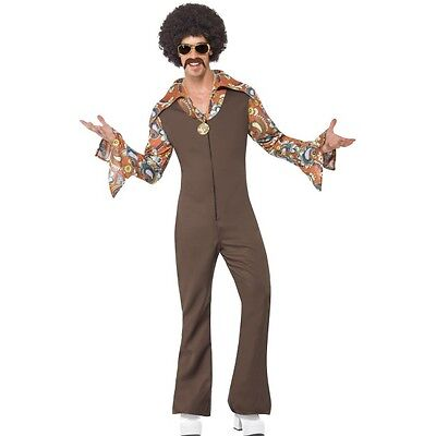 Men's Groovy boogie Costume Funny 1970's 1960's Disco Stag Night Fancy Dress](Boogie Nights Costume)