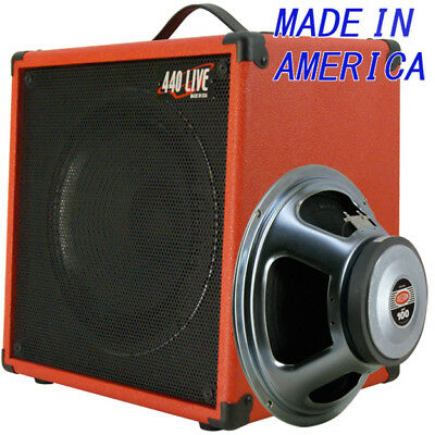 1x12 Guitar Speaker Extension Cab w//8 Ohm CELESTION Greenback Ivory White tolex