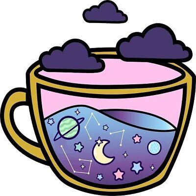 30 Custom Galaxy Tea Cup Art Personalized Address Labels