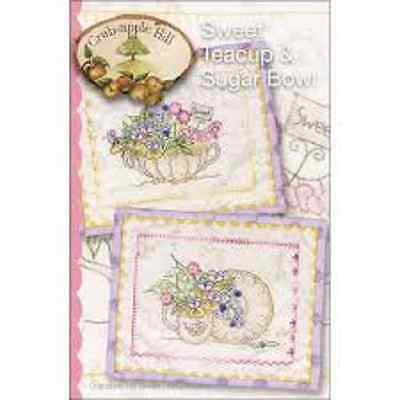 SWEET TEACUP AND SUGAR Pattern Crabapple Hill Studios New Embroidery Sewing Quil