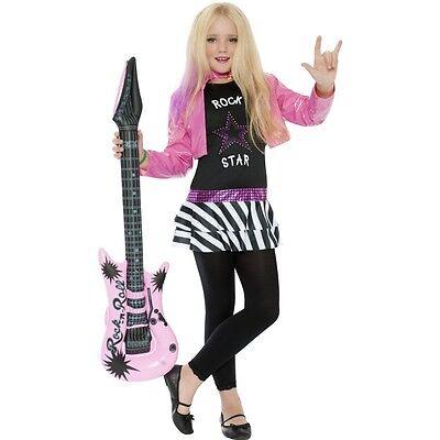 Glam Rock Girl Kostüm (Girl's Rock Star Glam Hannah Fancy Dress Costume School Of Rock Music Book Week )