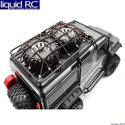 (Hot Racing ACC468KN02 rc 1/10 scale cargo net black red Kit)