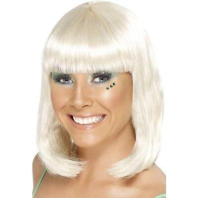 nde Short Blunt Fringe Fancy Dress Beauty Model Bob Shoulder (Blunt Kostüm)