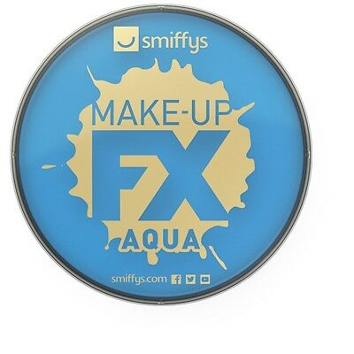 Unisex Make-Up Fx Aqua Face & Body Paint Pale Blue Fancy Dress Stage Halloween  - Pale Face Halloween