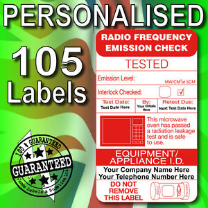 PAT-Test-Microwave-Emission-PERSONALISED-Labels-x-105