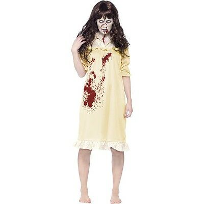 Women's Girl's Exorcist Halloween Fancy Dress Demon Child Costume Movie - Demon Girl Kostüm