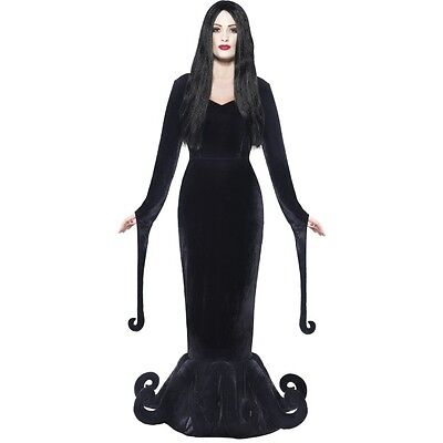 Women's Duchess Of The Manor Adams Family Morticia Fancy Dress Costume Halloween