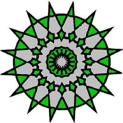 30 Custom Green Star Shine Personalized Address Labels